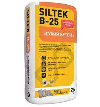 """Универсальная смесь """"Сухой бетон"""" SILTEK В-25"""