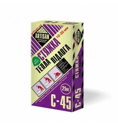 Артисан С-45 самовыравнивающаяся смесь для теплых полов (10-30мм), 20кг