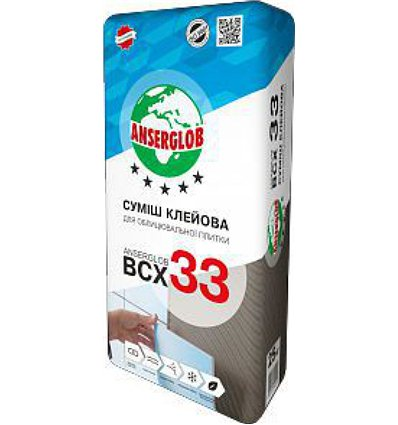 Клей для плитки Ансерглоб BCX-33, 25 кг