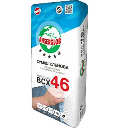 Ансерглоб белый клей для мрамора и мозаики эластифицированый BCX-46, 25 кг