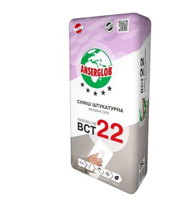 Штукатурка Ансерглоб финишная цем.-известковая BCT-22, 25 кг