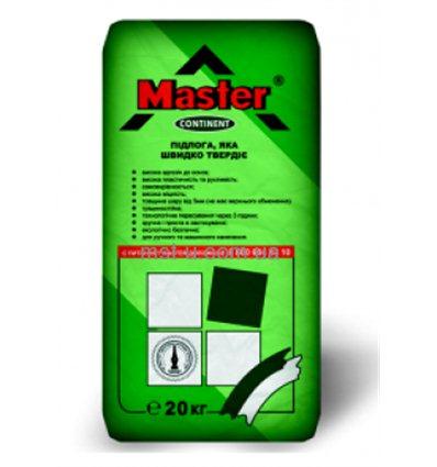 Мастер Континент самовыравнивающаяся смесь М200 для теплых полов (от 5 мм) серый, 25 кг