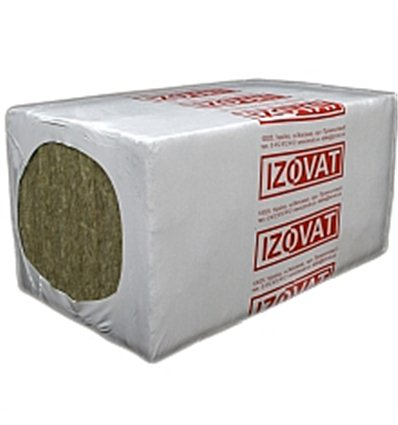 Базальтовая вата Изоват 135 50мм плита 1х0,6м, в упаковке 2,4м2
