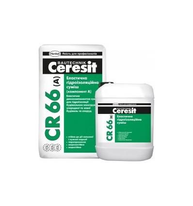 CR-66 Ceresit гидроизоляционная смесь эластичная, 17,5кг+5кг