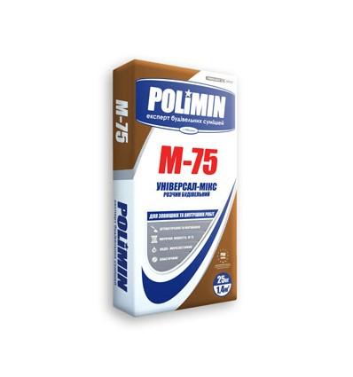 Раствор строительный Полимин М-75, 25кг