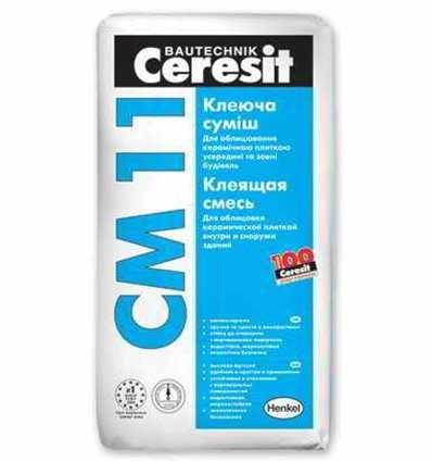 СМ-11 Ceresit клей для плитки Ceramic, 25 кг