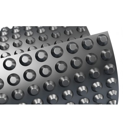 Шиповидная мембрана для фундамента TERRAPLAST PLUS L8 2*20м 400пл.