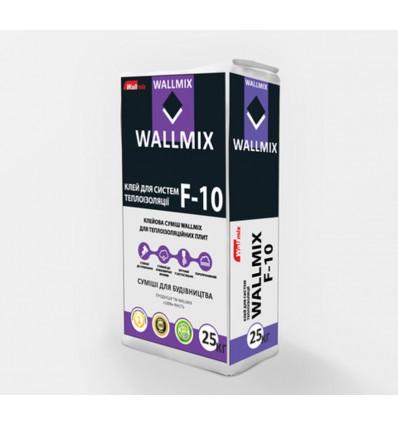 Wallmix F-10 клей для приклеивания минеральной ваты и пенополистирола Волмикс, 25кг