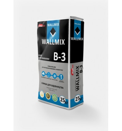 Клей для газоблока Wallmix B-3, 25 кг