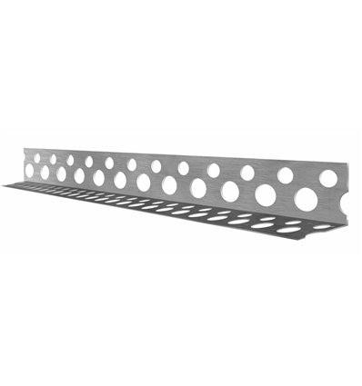 Уголок перфорированный алюминиевый 18,5х18,5мм, 2,5м