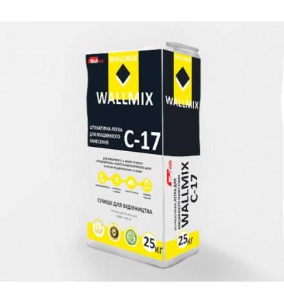 Wallmix C-17 штукатурка цементно-известковая для машинного нанесения, 25 кг
