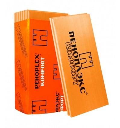 Пеноплэкс Комфорт 100мм пенополистирол экструдированный 1185х585мм, упаковка 4 листа