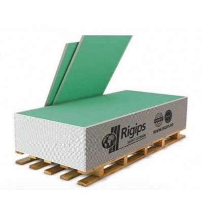 Гипсокартон РИГИПС влагостойкий потолочный 9,5 х 1200 х 2500 мм Rigips