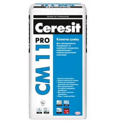 Клей Ceresit СМ-11 Pro для плитки и керамогранита Церезит, 27 кг