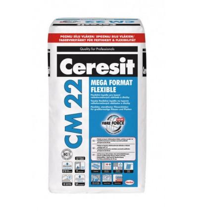 Клей Ceresit СМ-22 Mega Format Flexible для крупноформатной плитки Церезит, 25 кг