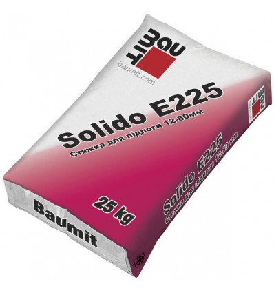 Баумит cтяжка Baumit Solido E225 (12-80мм), 25 кг
