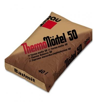 Клей Баумит Термо Мёртель 50 для кладки блоков типа Porotherm , 40л