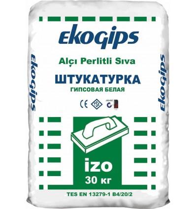 Изогипс шпаклевка гипсовая стартовая IZOGIPS Ekogips, 30 кг