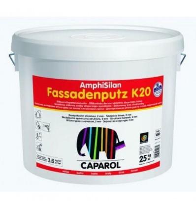 Декоративная штукатурка Amphisilan-Fassadenputz K 30 world Transparent. Размер зерна 3,0мм