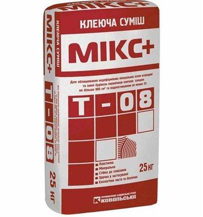 Клей для плитки, природного камня Силтек Т-08 Мікс+, 25кг